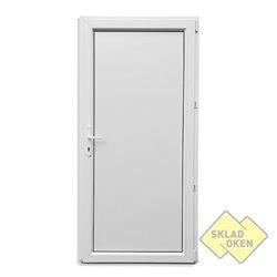 Plastové vedlejší vchodové dveře plné 880 x 2080 mm - otvíravé pravé