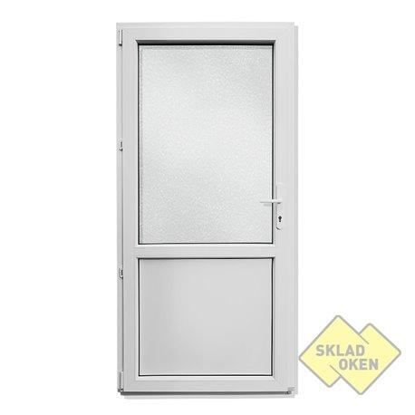 Plastové vedlejší vchodové dveře dělené 880 x 2080 mm - otvíravé levé