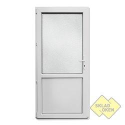 Plastové vedlejší vchodové dveře dělené 980 x 2080 mm - otvíravé levé