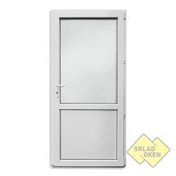 Plastové vedlejší vchodové dveře dělené 980 x 2080 mm - otvíravé pravé