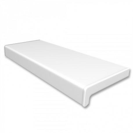 Vnitřní PVC parapet, šířka 25 cm (250 mm), bezúdržbový, bílý, PVC koncovky v ceně