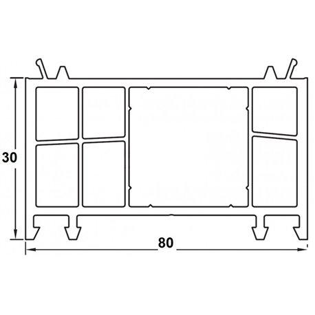 Rozšiřovací profil 30mm bílý