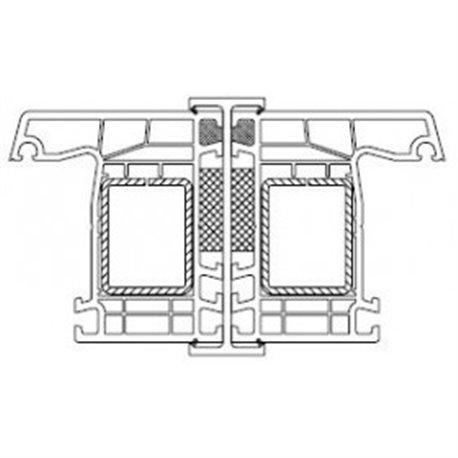 Spojovací profil typ H pro okna a dveře, bílý