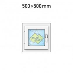 Plastové okno jednokřídlé 500 x 500 mm - levé