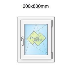 Plastové okno jednokřídlé 600x800 mm (60x80 cm) - otvíravo-sklopné pravé