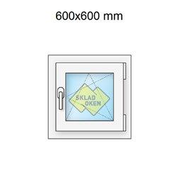 Plastové okno jednokřídlé 600x600 mm (60x60 cm) - otvíravo-sklopné pravé