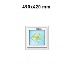 Plastové okno sklopné 490 x 420 mm