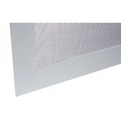 Síť proti hmyzu pro okno 60x80 cm (600x800 mm), bílý hliníkový rám, šedá síťovina