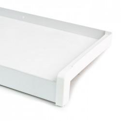 Venkovní ALU parapet, šířka 22,5 cm (225 mm), ohýbaný hliník, bílý, PVC koncovky v ceně (cena za 1 cm délky)