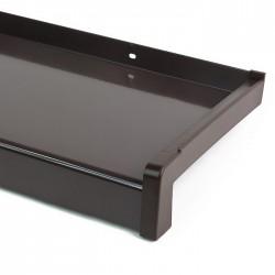 Venkovní ALU parapet, šířka 22,5 cm (225 mm), ohýbaný hliník, hnědý, PVC koncovky v ceně (cena za 1 cm délky)