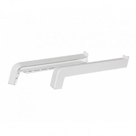 Plastová koncovka k venkovnímu ALU parapetu, bílá (cena za pár 2 ks)