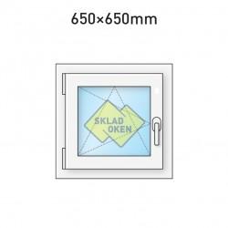 Plastové okno jednokřídlé 650 x 650 mm - levé