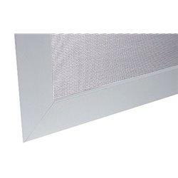 Síť proti hmyzu 380x380 mm, bílý rám, šedá síťovina, na okno o rozměru 500x500 mm