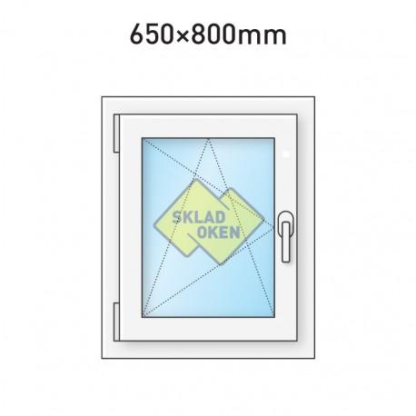 Plastové okno jednokřídlé 650 x 800 mm - levé