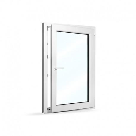 Plastové okno jednokřídlé 80x120 cm (800x1200 mm), bílé, otevíravé i sklopné, PRAVÉ - otevřené