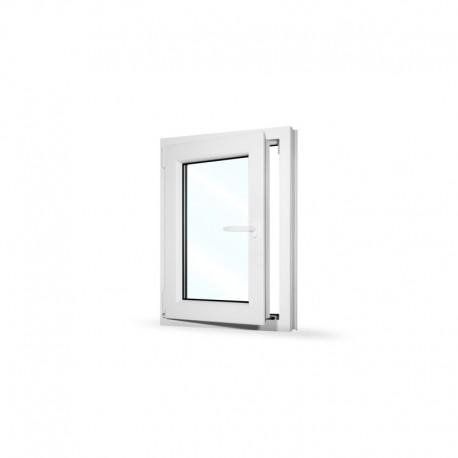 Plastové okno jednokřídlé 60x80 cm (600x800 mm), bílé, otevíravé i sklopné, LEVÉ - otevřené