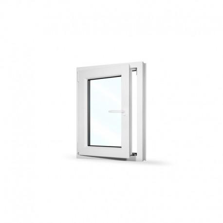 Plastové okno jednokřídlé 65x80 cm (650x800 mm), bílé, otevíravé i sklopné, LEVÉ - otevřené