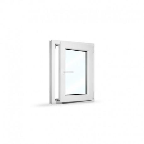 Plastové okno jednokřídlé 65x80 cm (650x800 mm), bílé, otevíravé i sklopné, PRAVÉ - otevřené