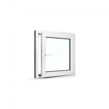 Plastové okno jednokřídlé 80x80 cm (800x800 mm), bílé, otevíravé i sklopné, PRAVÉ - otevřené