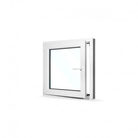 Plastové okno jednokřídlé 80x80 cm (800x800 mm), bílé, otevíravé i sklopné, LEVÉ - otevřené