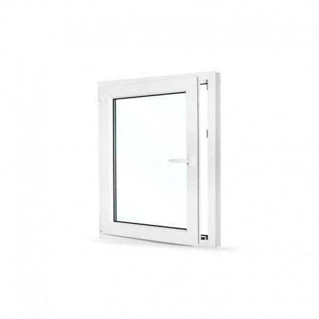 Plastové okno jednokřídlé 80x100 cm (800x1000 mm), bílé, otevíravé i sklopné, LEVÉ - otevřené