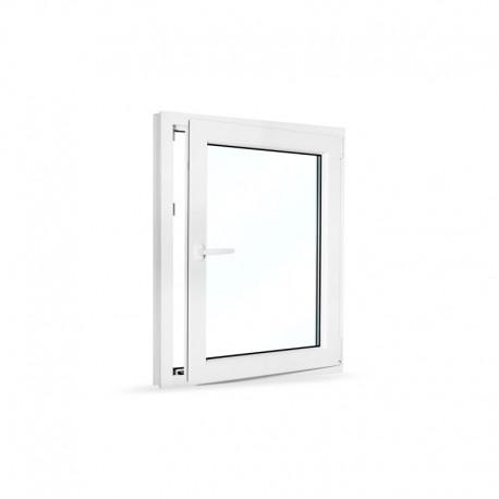 Plastové okno jednokřídlé 80x100 cm (800x1000 mm), bílé, otevíravé i sklopné, PRAVÉ - otevřené