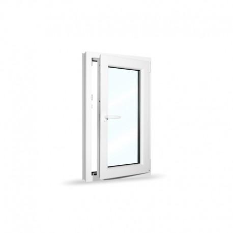Plastové okno jednokřídlé 60x100 cm (600x1000 mm), bílé, otevíravé i sklopné, PRAVÉ - otevřené