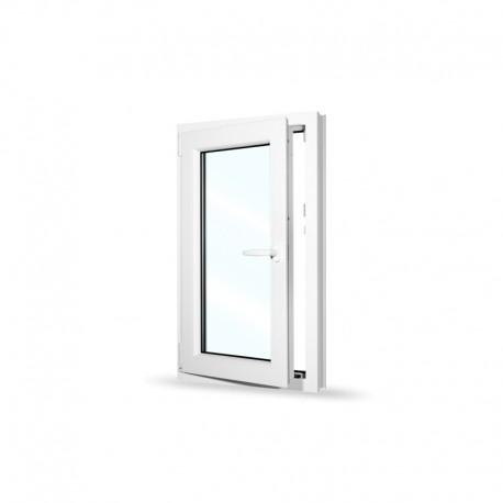 Plastové okno jednokřídlé 60x100 cm (600x1000 mm), bílé, otevíravé i sklopné, LEVÉ - otevřené