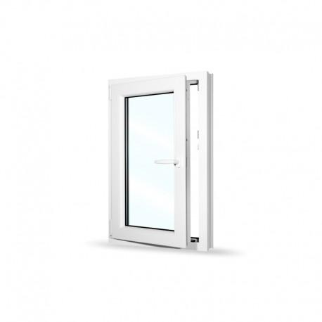 Plastové okno jednokřídlé 65x100 cm (650x1000 mm), bílé, otevíravé i sklopné, LEVÉ - otevřené
