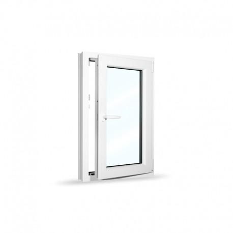 Plastové okno jednokřídlé 65x100 cm (650x1000 mm), bílé, otevíravé i sklopné, PRAVÉ - otevřené
