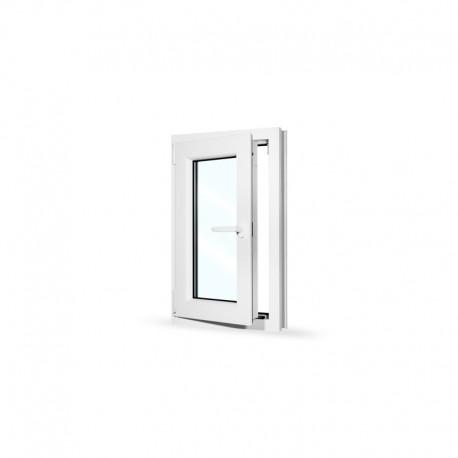 Plastové okno jednokřídlé 50x80 cm (500x800 mm), bílé, otevíravé i sklopné, LEVÉ - otevřené