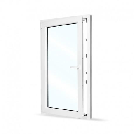 Plastové okno jednokřídlé 80x140 cm (800x1400 mm), bílé, otevíravé i sklopné, LEVÉ - otevřené