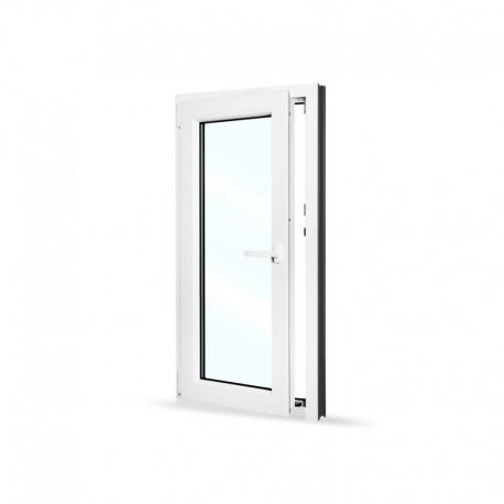 Plastové okno jednokřídlé 60x120 cm (600x1200 mm), bílé, otevíravé i sklopné, LEVÉ - otevřené
