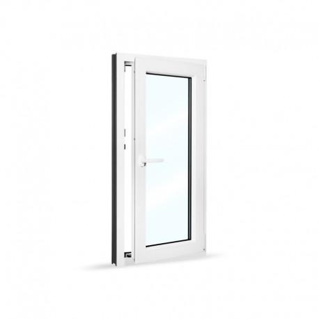 Plastové okno jednokřídlé 60x120 cm (600x1200 mm), bílé, otevíravé i sklopné, PRAVÉ - otevřené