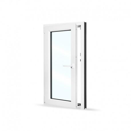 Plastové okno jednokřídlé 65x120 cm (650x1200 mm), bílé, otevíravé i sklopné, LEVÉ - otevřené