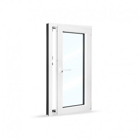 Plastové okno jednokřídlé 65x120 cm (650x1200 mm), bílé, otevíravé i sklopné, PRAVÉ - otevřené
