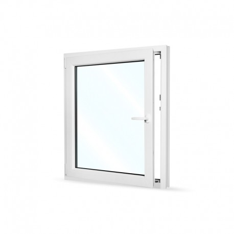 Plastové okno jednokřídlé 95x110 cm (950x1100 mm), bílé, otevíravé i sklopné, LEVÉ - otevřené