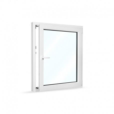 Plastové okno jednokřídlé 95x110 cm (950x1100 mm), bílé, otevíravé i sklopné, PRAVÉ - otevřené