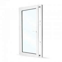 Plastové okno jednokřídlé 80x154 cm (800x1540 mm), bílé, otevíravé i sklopné, LEVÉ - otevřené