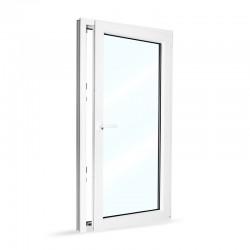 Plastové okno jednokřídlé 80x154 cm (800x1540 mm), bílé, otevíravé i sklopné, PRAVÉ - otevřené