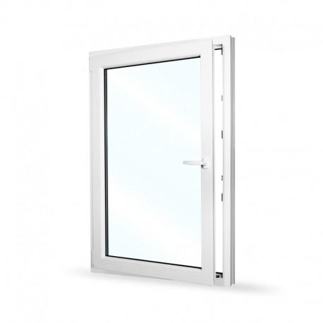 Plastové okno jednokřídlé 95x140 cm (950x1400 mm), bílé, otevíravé i sklopné, LEVÉ - otevřené