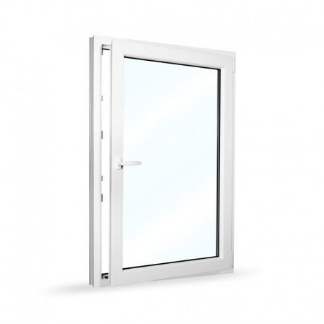 Plastové okno jednokřídlé 95x140 cm (950x1400 mm), bílé, otevíravé i sklopné, PRAVÉ - otevřené