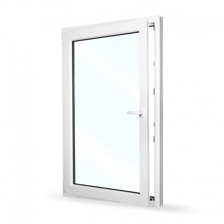 Plastové okno jednokřídlé 95x154 cm (950x1540 mm), bílé, otevíravé i sklopné, LEVÉ - otevřené