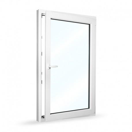 Plastové okno jednokřídlé 95x154 cm (950x1540 mm), bílé, otevíravé i sklopné, PRAVÉ - otevřené