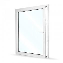 Plastové okno jednokřídlé 115x154 cm (1150x1540 mm), bílé, otevíravé i sklopné, LEVÉ - otevřené