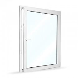 Plastové okno jednokřídlé 115x154 cm (1150x1540 mm), bílé, otevíravé i sklopné, PRAVÉ - otevřené