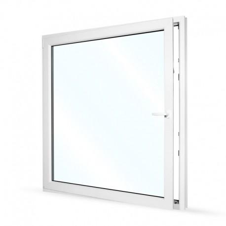 Plastové okno jednokřídlé 145x154 cm (1450x1540 mm), bílé, otevíravé i sklopné, LEVÉ - otevřené