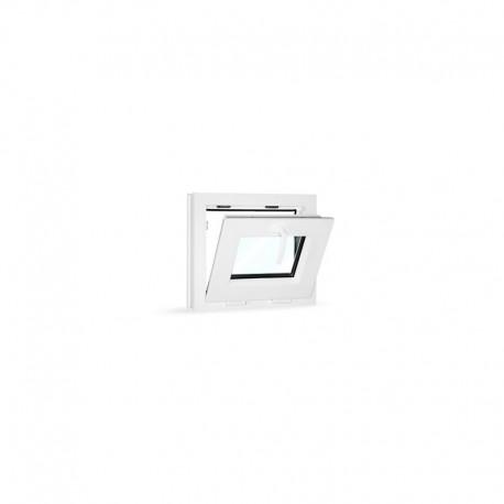 Plastové okno sklopné 49x42 cm (490x420 mm), bílé - sklopené