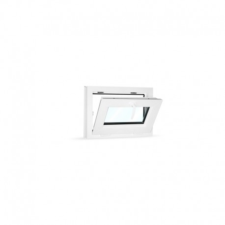 Plastové okno sklopné 60x42 cm (600x420 mm), bílé - sklopené