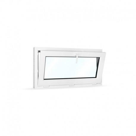Plastové okno sklopné 105x55 cm (1050x550 mm), bílé - sklopené